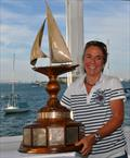 SallyAnne Santos receives the Ted Turner Trophy during the 12 Metre North American Championships - photo © SallyAnne Santos / Windlass Creative