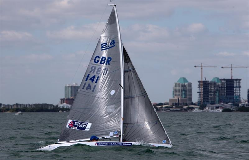 Megan Pascoe on day 5 at ISAF Sailing World Cup Miami - photo © Ocean Images / British Sailing Team