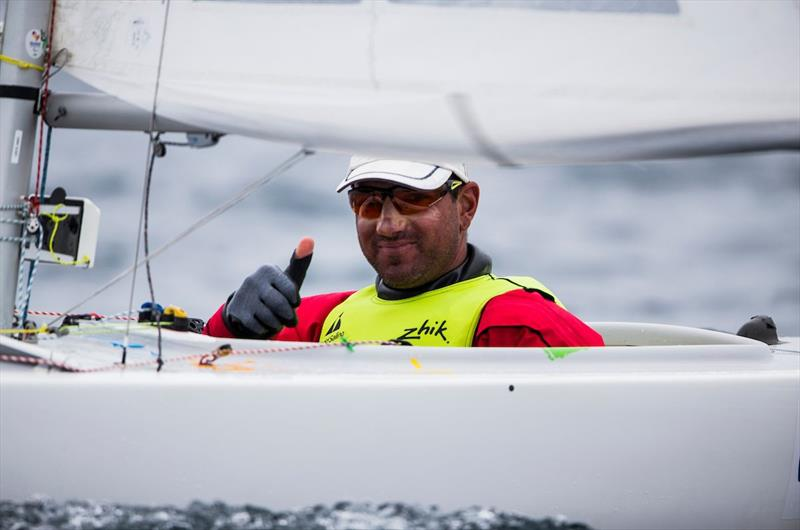 Damien Seguin in the 2.4m (Norlin) on day 3 of World Cup Hyères - photo © Pedro Martinez / Sailing Energy