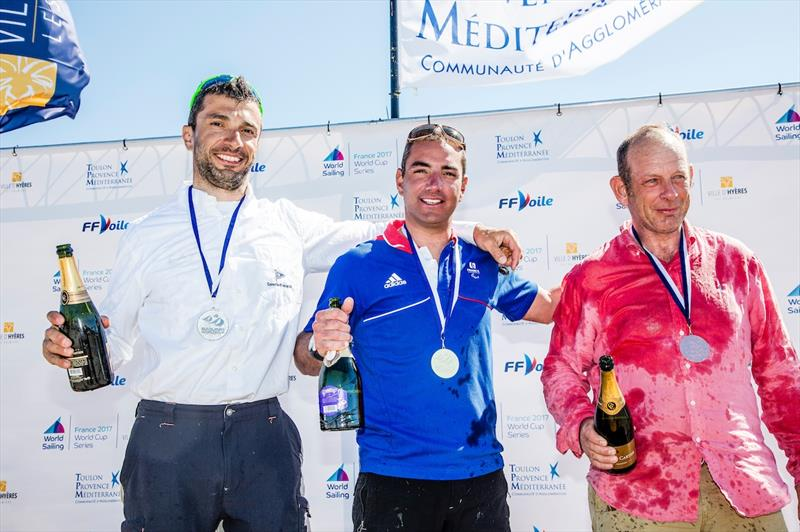 Damien Seguin wins the 2.4mR class at World Cup Hyères - photo © Jesus Renedo / Sailing Energy / World Sailing