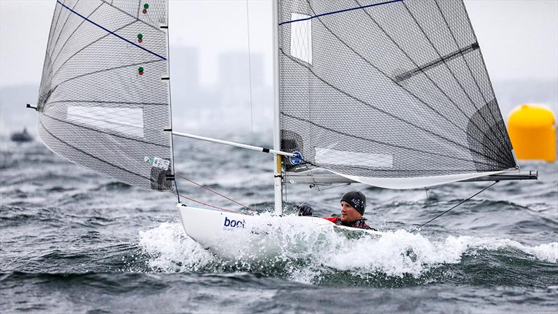 Matt Bugg on day 3 of the Para World Sailing Championships in Kiel - photo © Christian Beeck / www.segel-bilder.de