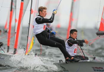 Carlos Robles & Florian Trittel on day 5 of the Four Star Pizza ISAF Youth Sailing World Championship