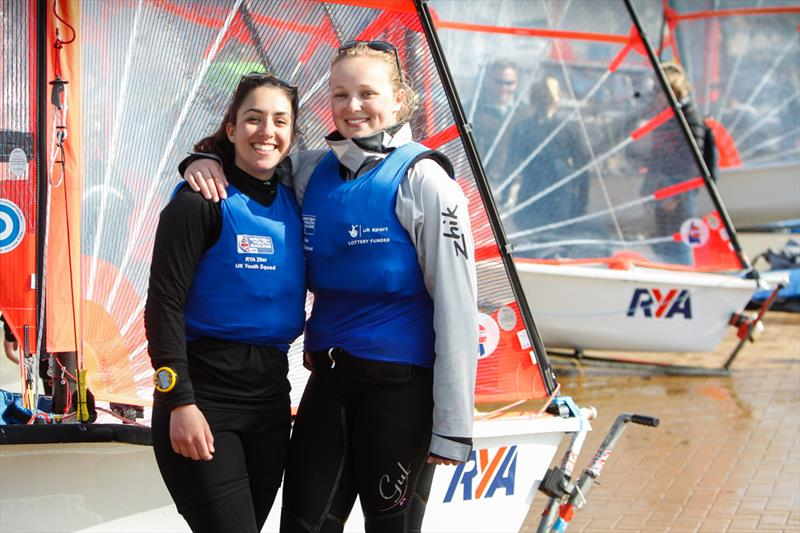 Mimi El-Khazindar and Emma Loveridge at the RYA Youth Nationals - photo © Paul Wyeth / RYA