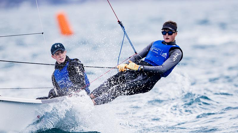 Gold for Crispin Beaumont and Tom Darling (GBR) at the Aon Youth Worlds in Auckland - photo © Pedro Martinez / Sailing Energy / World Sailing