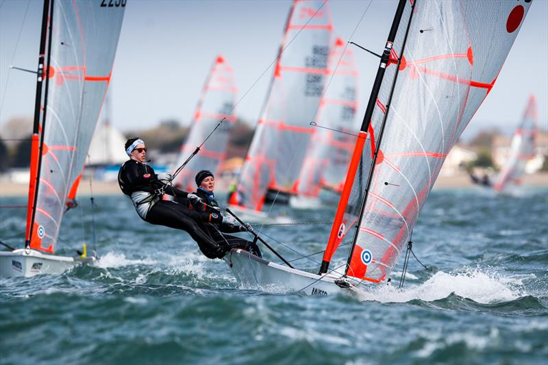 Bella Fellows and Anna Sturrock on day 3 of the RYA Youth Nationals - photo © Paul Wyeth / RYA