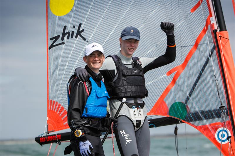 Boys 29er Gold for James Hammett & James Eales at the RYA Youth Nationals - photo © Paul Wyeth / RYA