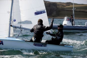 Callum Airlie and Joe Butterworth on day one of the RYA Youth National Championships