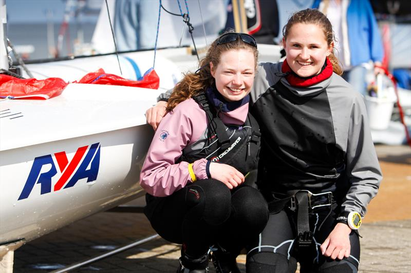 Jenny Smallwood and Danielle Thomas at the RYA Youth Nationals - photo © Paul Wyeth / RYA