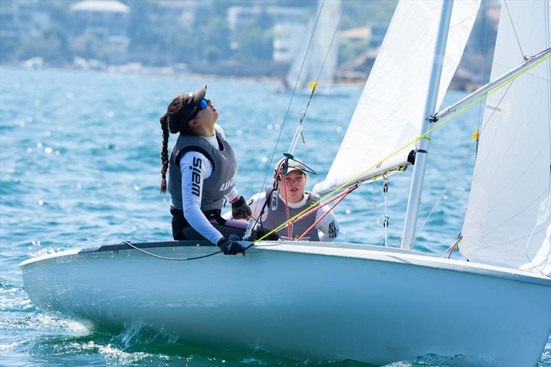 Nia Jerwood and Lisa Smith on day 1 of Sail Sydney 2015 - photo © Robin Evans