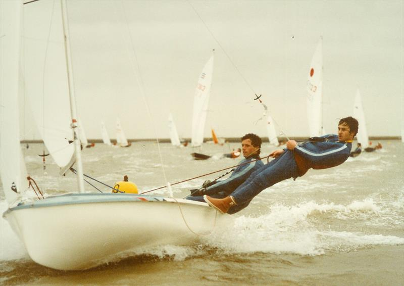 Dave Hall and Bunny Warren winning the Burnham Icicle in 1984 - photo © Hugh Bourne