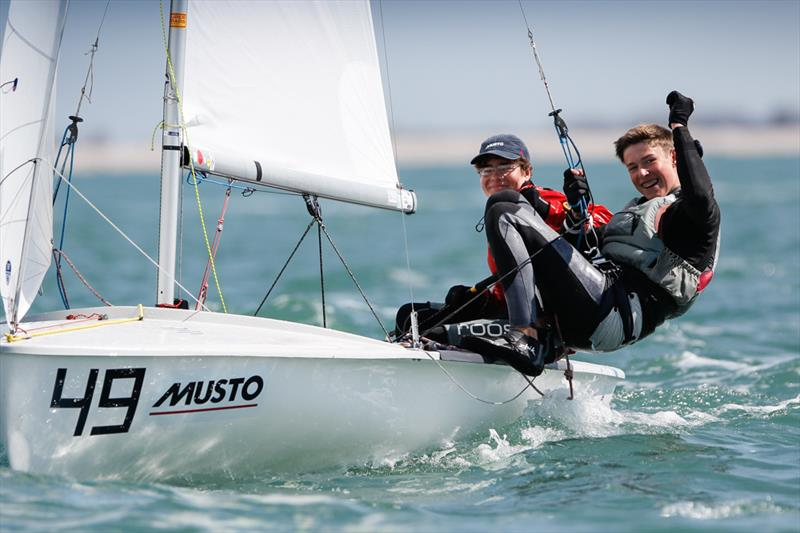 Boys 420 Gold for Alex Smallwood & Ross Thompson at the RYA Youth Nationals - photo © Paul Wyeth / RYA