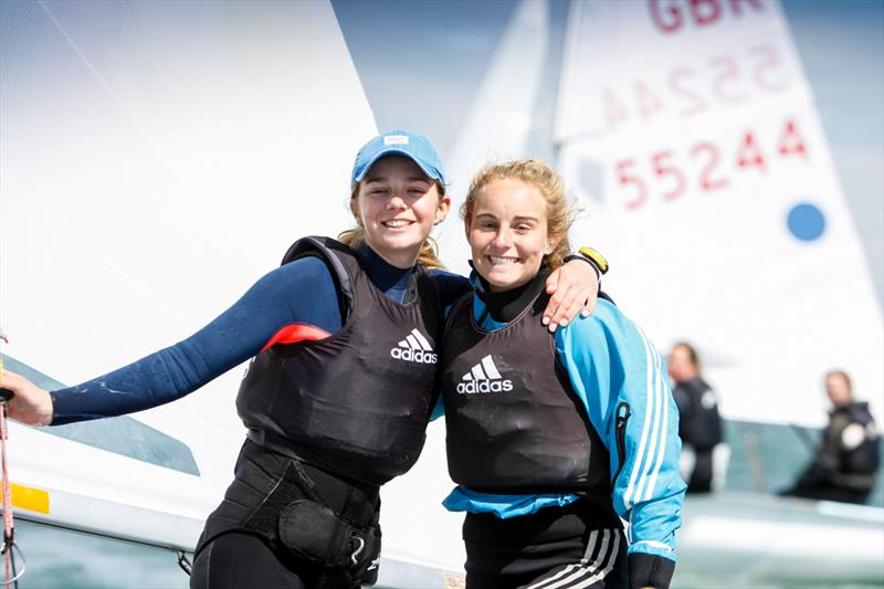 Girls 420Gold for Isobel Davies & Gemma Keers at the RYA Youth Nationals - photo © Paul Wyeth / RYA