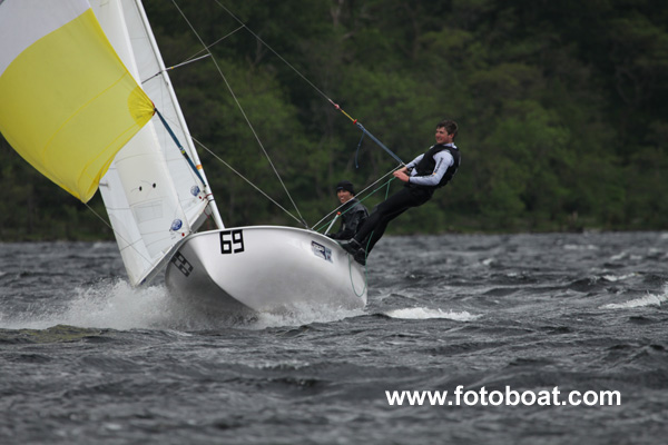 John Beardon &amp; Fergus Barrie during the Brown Cup at Loch Earn