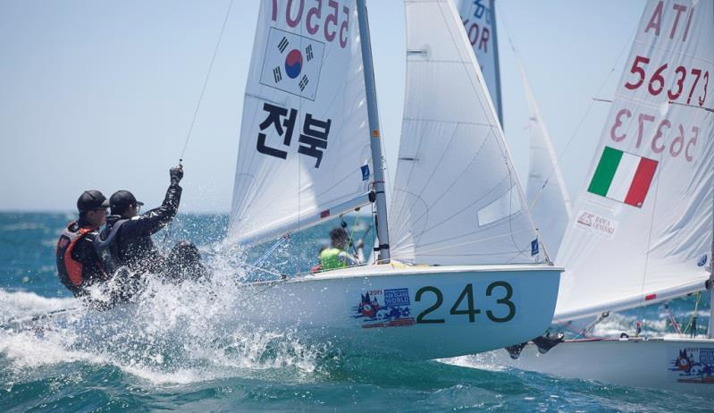 Haechan Seo and Chanhyuk Kim (KOR-55507) – 420 World Championship photo copyright Bernie Kaaks taken at Fremantle Sailing Club and featuring the 420 class
