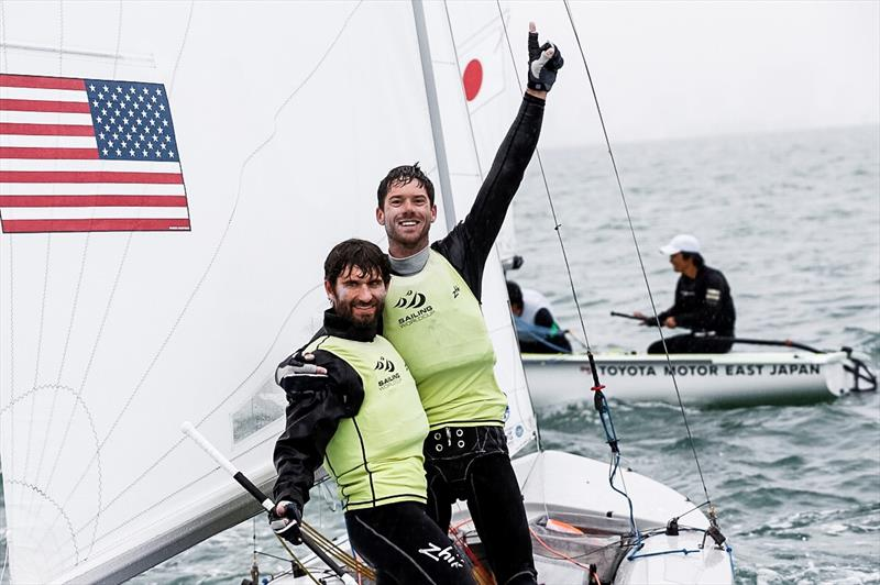 Stu McNay and David Hughes (USA) win the Men's 470 class at World Cup Series Miami - photo © Pedro Martinez / Sailing Energy / World Sailing