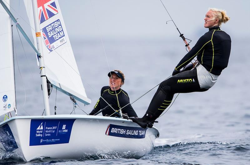 Women's 470 racing on day 3 of World Cup Hyères - photo © Pedro Martinez / Sailing Energy