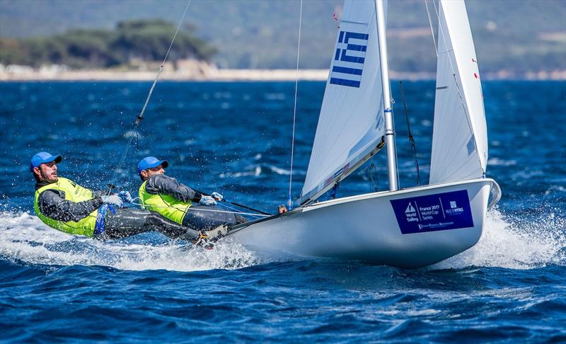 Mantis and Kagialis of Greece on World Cup Hyères day 4 - photo © Jesus Renedo / Sailing Energy / World Sailing