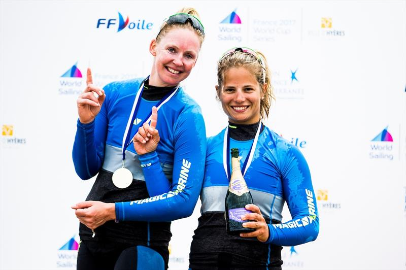 Women's 470 gold for Zegers and van Veen at World Cup Hyères - photo © Pedro Martinez / Sailing Energy / World Sailing