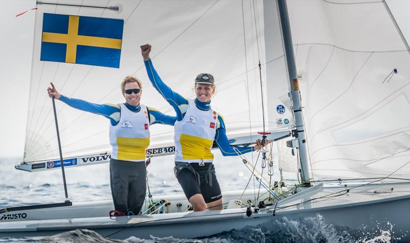 Carl-Fredrik Fock/Marcus Dackhammar (SWE-350) win the Men's European title at the 470 Europeans at Monaco - photo © Mesi