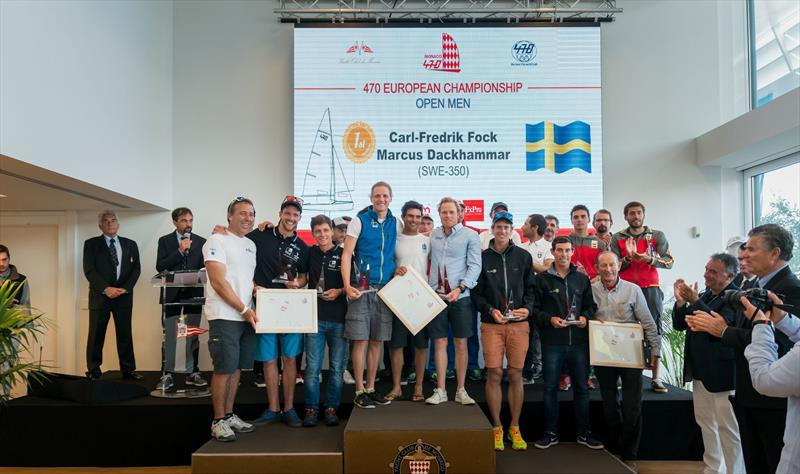 470 Men Medallists at the 470 Europeans at Monaco - photo © Mesi