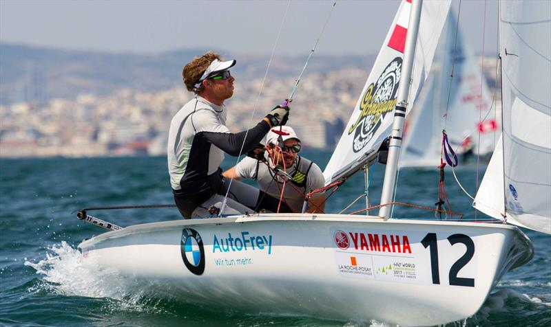 David Bargehr and Lukas Mahr (AUT) at the 470 Worlds on day 2 - photo © Nikos Alevromytis / International 470 Class