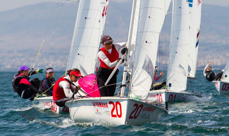 Tina MRAK and Veronika MACAROL (SLO) on day 4 at the 470 Worlds - photo © Nikos Alevromytis / International 470 Class