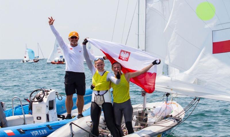 Agnieszka SKRZYPULEC and Irmina MRÓZEK GLISZCZYNSKA win the 470 Worlds in Greece 2017 - photo © Nikos Alevromytis / International 470 Class