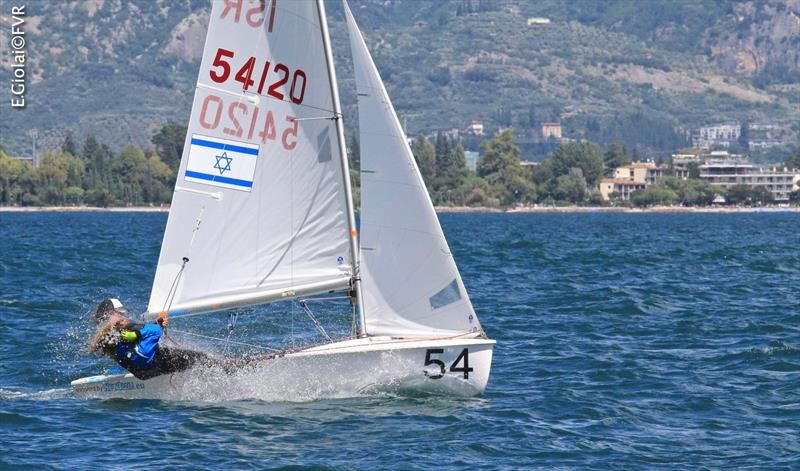 Linoy KORN and Omer BILIA (ISR) on day 4 of the 420 & 470 Junior Europeans - photo © Elena Giolai