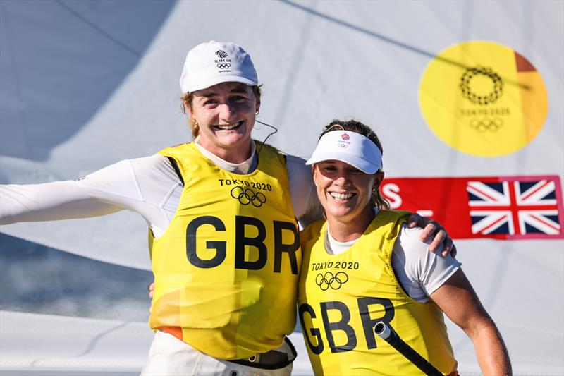 Women's 470 Gold for Hannah Mills and Eilidh McIntyre (GBR) at the Tokyo 2020 Olympic Sailing Competition - photo © Sailing Energy / World Sailing