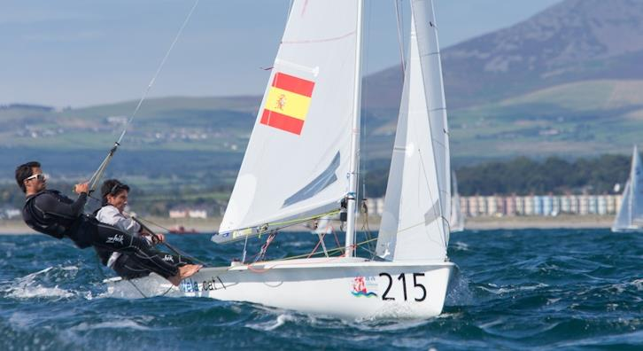 David Charles & Alex Charles (ESP) on day 1 of the 420 and 470 Junior Europeans