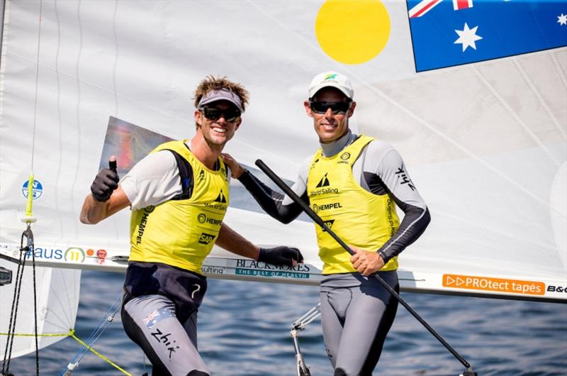Australia's Mat Belcher and Will Ryan - Hempel World Cup Series Enoshima, day 6 - photo © Pedro Martinez / Sailing Energy / World Sailing