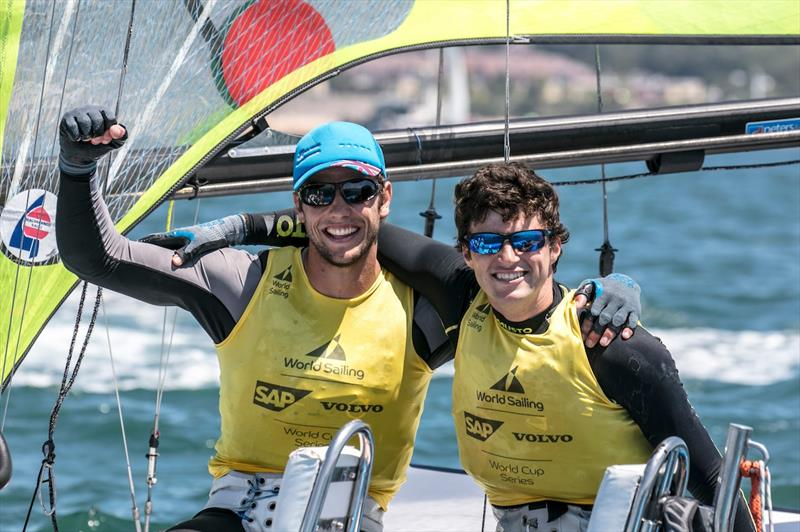James Peters and Fynn Sterritt win 49er gold on day 5 of the World Cup Series Final in Santander - photo © Jesus Renedo / Sailing Energy / World Sailing