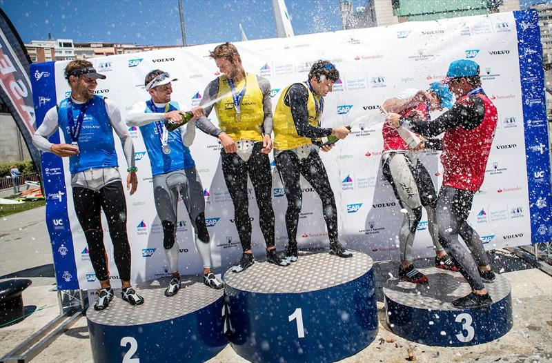 49er Podium on day 5 of the World Cup Series Final in Santander - photo © Tomas Moya / Sailing Energy / World Sailing