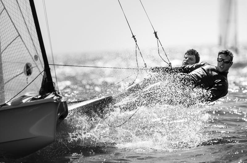 Finals day at the 49er Worlds in Portugal - photo © Maria Muina / www.sailingshots.es