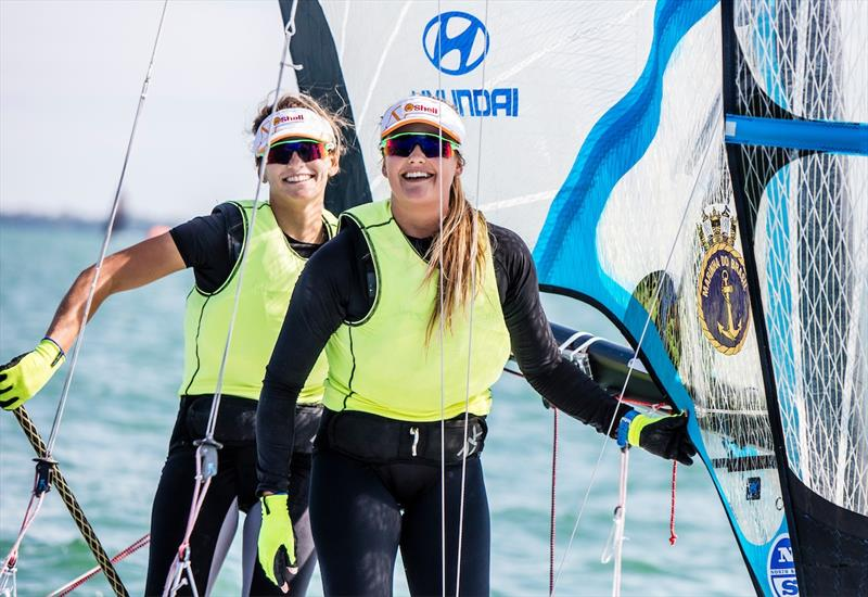 Martine Soffiati Grael and Kahena Kunze (BRA) win the 49er FX class at World Cup Series Miami - photo © Pedro Martinez / Sailing Energy / World Sailing