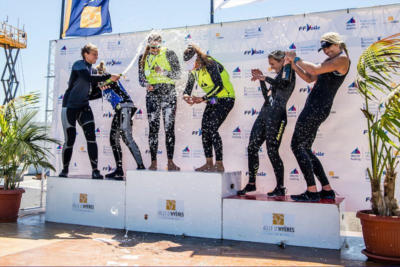 Charlotte Dobson & Saskia Tidey claim 49erFX bronze at World Cup Hyères - photo © Marina Garcia / Sailing Energy / World Sailing