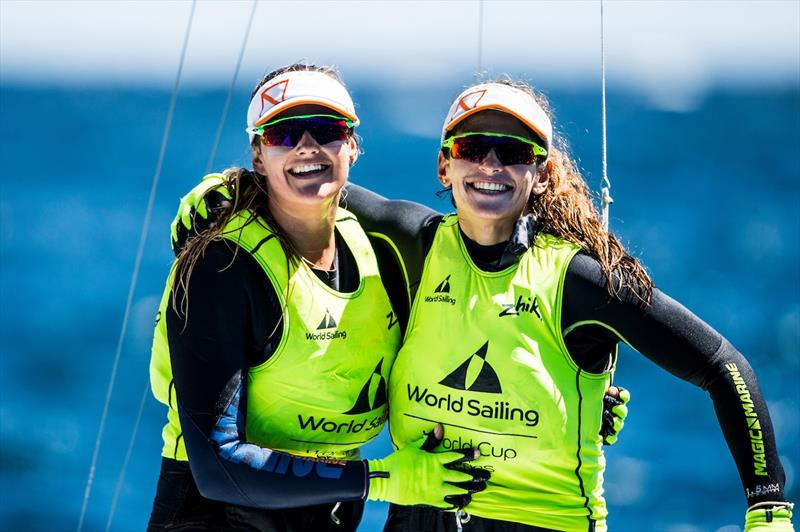 Grael and Kunze win the 49er FX class at World Cup Hyères - photo © Pedro Martinez / Sailing Energy / World Sailing
