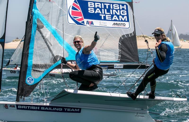 Charlottte Dobson & Saskia Tidey on day 5 of the World Cup Series Final in Santander - photo © Jesus Renedo / Sailing Energy / World Sailing