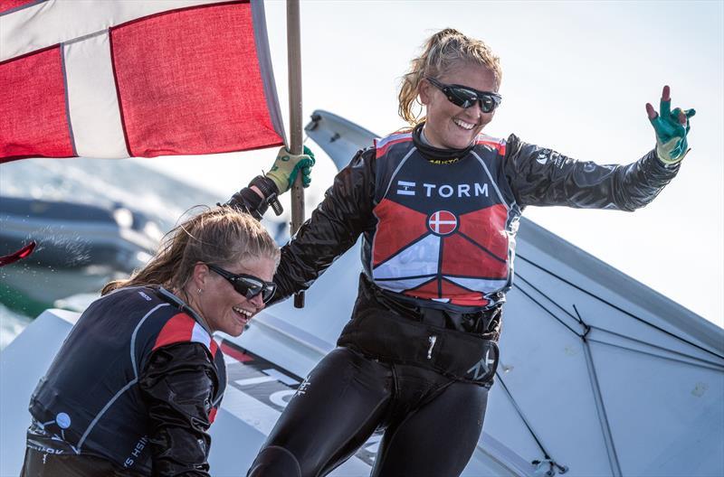 FX gold for Denmark's Jena Hansen and Katja Iversen at the 49er Worlds in Portugal - photo © Ricardo Pinto