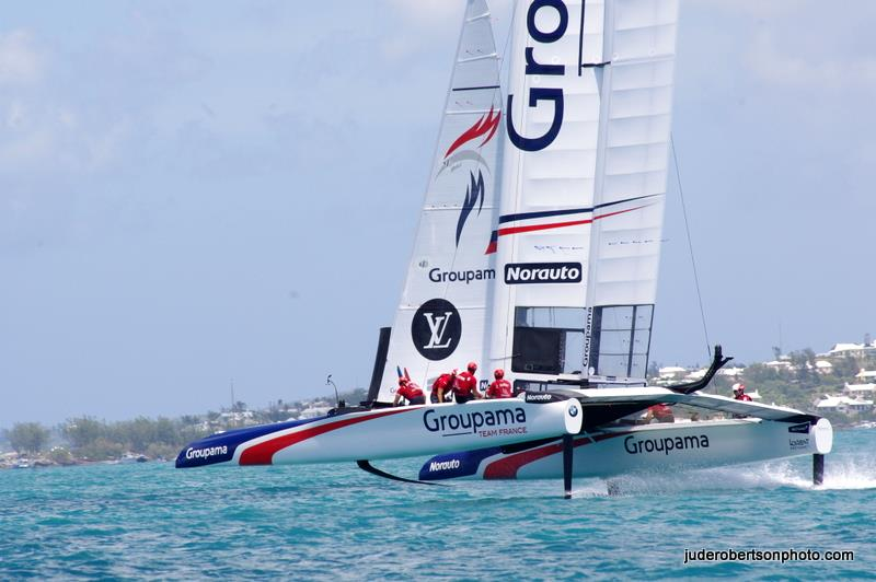 Groupama Team France on the opening day of the 35th America's Cup - photo © Jude Robertson / www.juderobertsonphoto.com
