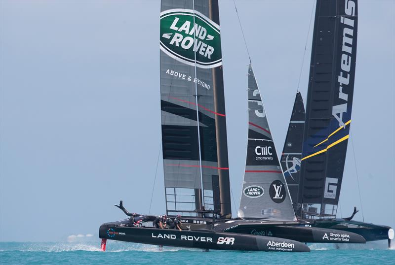 Land Rover BAR beat Artemis Racing on the first day of Round Robin 2 in the 35th America's Cup - photo © Lloyd Images