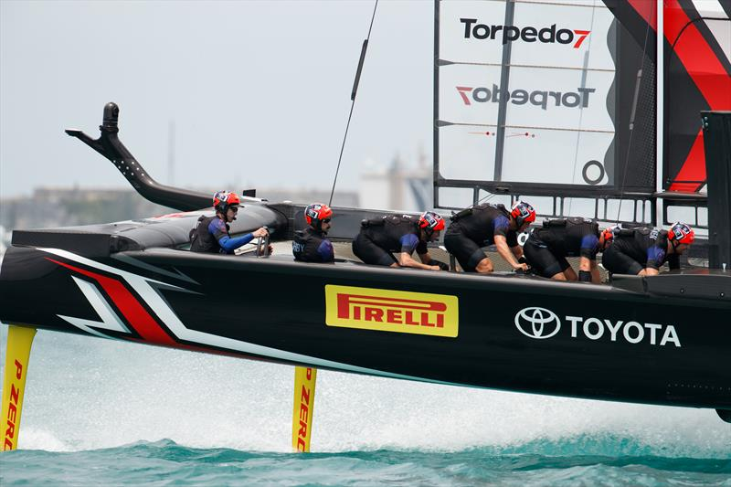 Emirates Team New Zealand beat SoftBank Team Japan on day 7 at the 35th America's Cup - photo © Richard Hodder