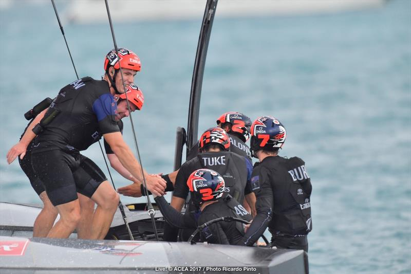 Emirates Team New Zealand end day one of the Louis Vuitton America's Cup Challenger Playoffs 2-1 up - photo © ACEA 2017 / Ricardo Pinto