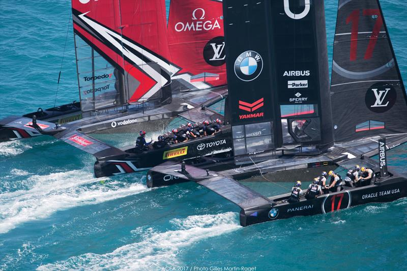 Emirates Team New Zealand on match point after day 4 of the 35th America's Cup Match - photo © ACEA 2017 / Gilles Martin-Raget