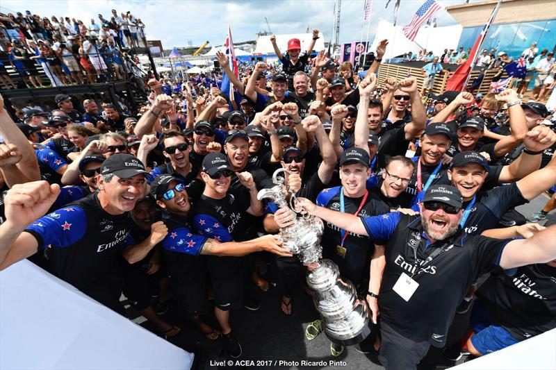 Emirates Team New Zealand win the 35th America's Cup Match - photo © ACEA 2017 / Ricardo Pinto