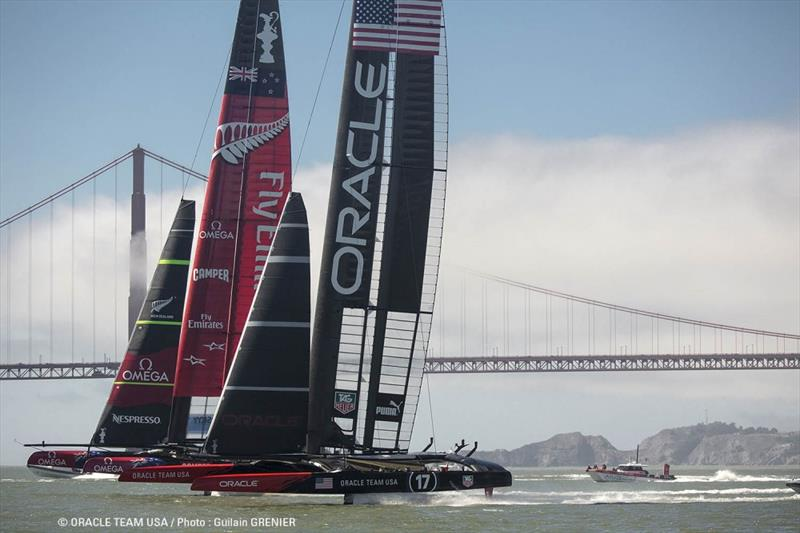 34th America's Cup action in San Francisco - photo © Guilain Grenier / ORACLE TEAM USA