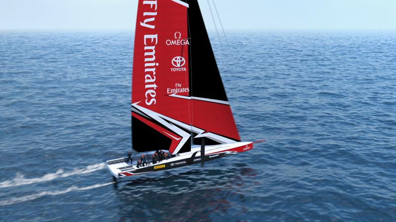 The America's Cup AC75 boat concept revealed photo copyright Emirates Team New Zealand taken at  and featuring the AC75 class