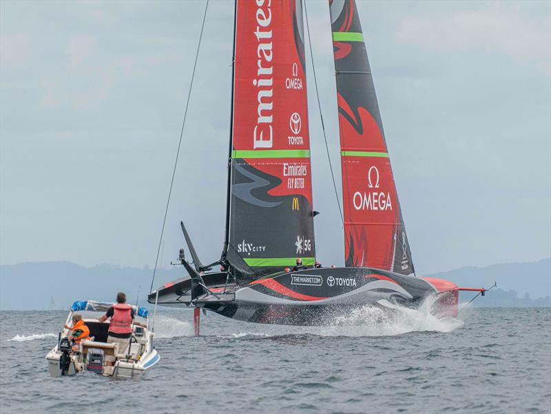 Te Rehutai training on the Waitemata Harbour - Emirates Team NZ - November 2020 - 36th America's Cup - photo © Hamish Hooper / Emirates Team New Zealand