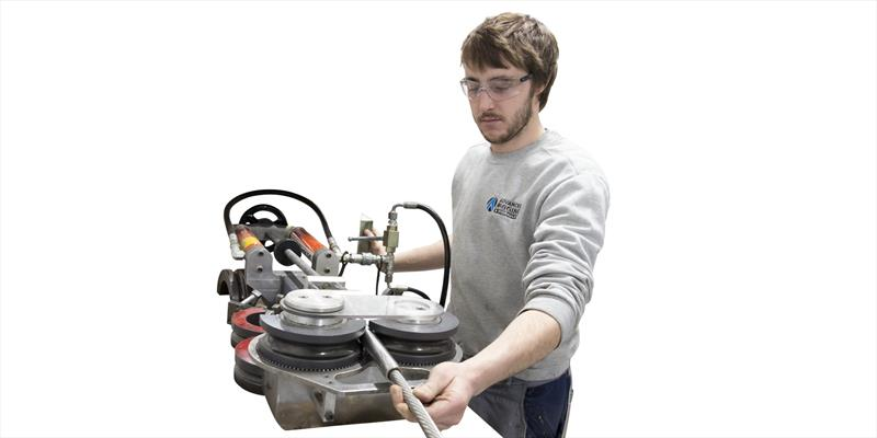 Swaging machine at Advanced Rigging & Hydraulics - photo © Advanced Rigging & Hydraulics