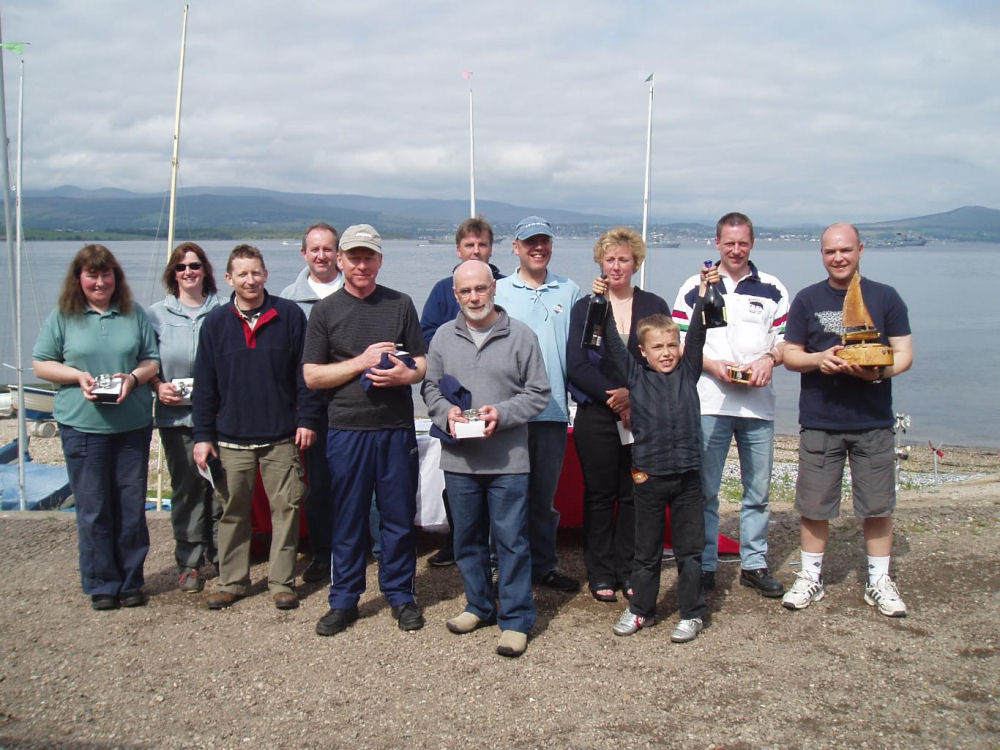 Prize winners at the Royal West of Scotland Amateur Boat Club Annual Regatta